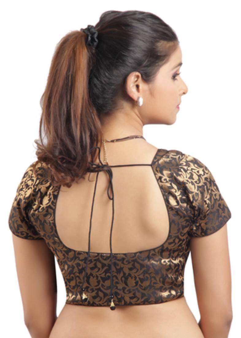 961b48a650da3f Black Ready Made Stitched padded printed Blouse - muhenera s - 331917
