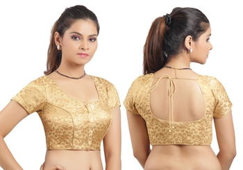e11280ce449cf Golden Ready Made Stitched padded printed Blouse - muhenera s - 331918