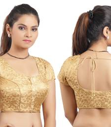 Golden Ready Made Stitched padded printed Blouse shop online