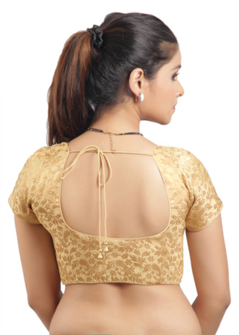 417936aa8cccb2 Golden Ready Made Stitched padded printed Blouse - muhenera s - 331918