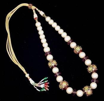 Beautifully Handcrafted Kundan Meena Amethyst Stone Necklace