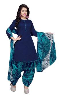 aefabb66 Progress 4cc28d84d76fcb9210fe43f7ac15eb975cd0845b972ae4a79b1d0ad72de0bd8e.  Blue floral print cotton unstitched salwar kameez with dupatta. Shop Now