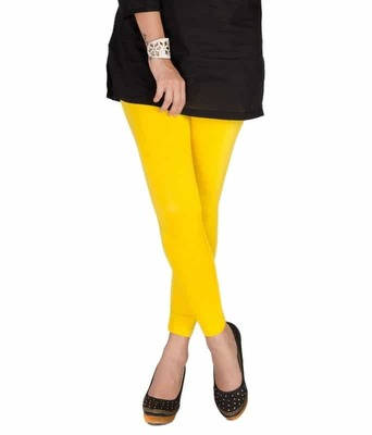 Yellow churidaar cotton leggings