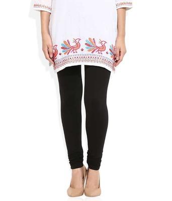 Black churidaar cotton leggings
