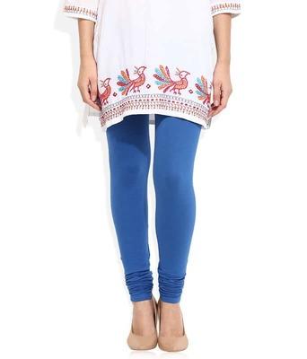 Blue churidaar cotton leggings