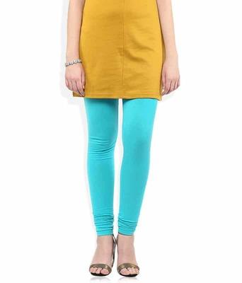 Mexicali turquoise blue churidaar cotton leggings