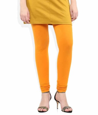 Lemon shine yellow churidaar cotton leggings