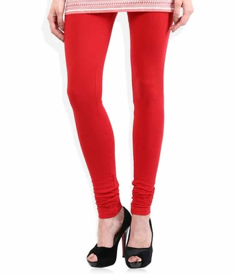 Pure red churidaar cotton leggings