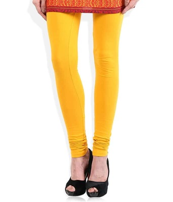 Sunshine yellow churidaar cotton leggings