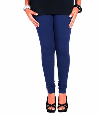 Royal blue churidaar cotton leggings