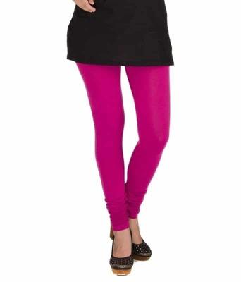 Pure rose pink churidaar cotton leggings