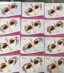 12 Colour Gold Crystal Sticker Face Tattoo