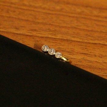 Diamond Look Pressable Marathi Nose Ring