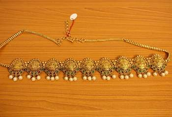 Multicolour Temple Jewellery Wedding Waistbelt