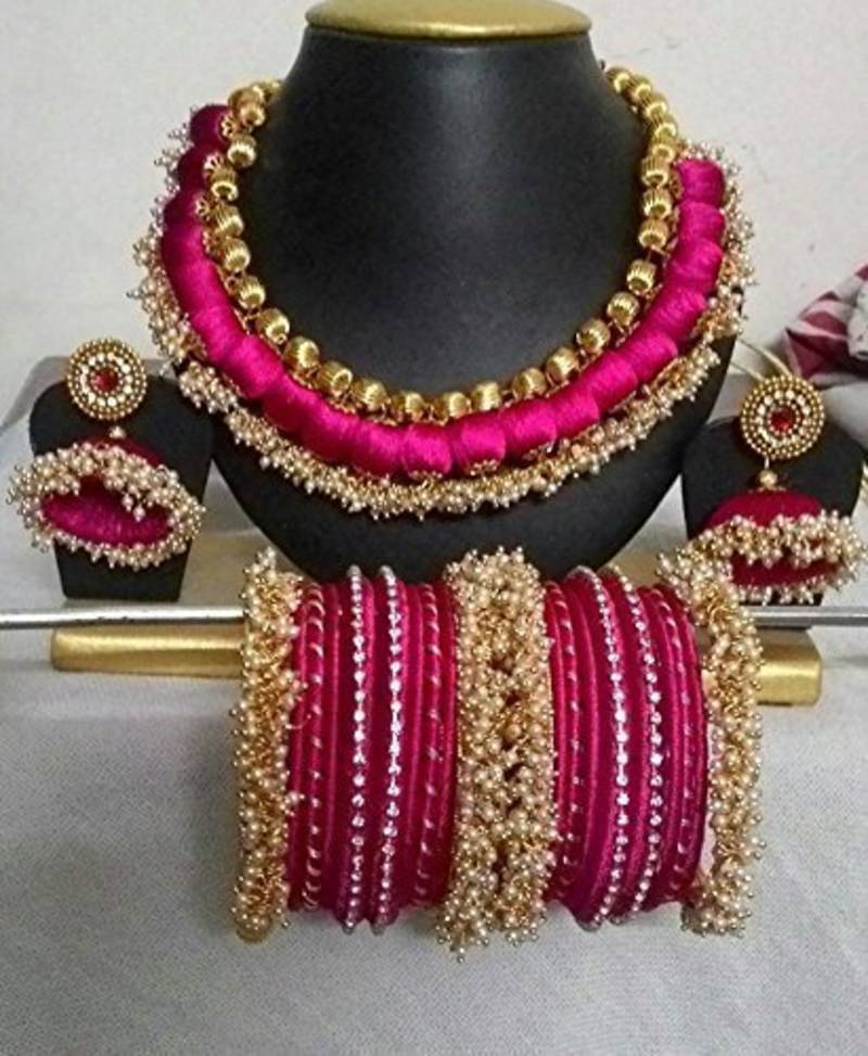 Pink Diamond Necklace Sets Maruti Creations 2466598