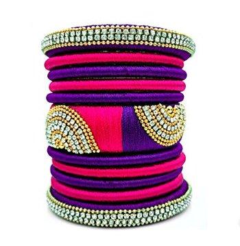 Purple diamond bangles-and-bracelets