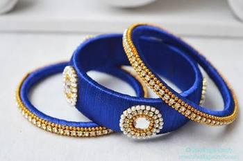 Blue diamond bangles