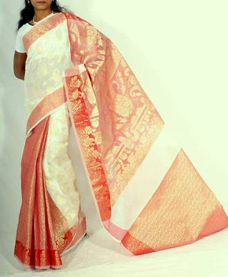 Fancy Check Patli Pallu Banarasi saree