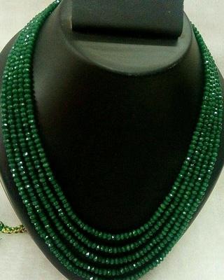 Royal Green 5 Line Onex Beads Mala