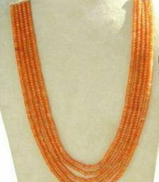 Buy royal peach 5 line onex beads mala Necklace online