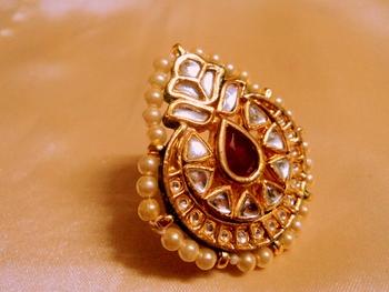 Rajwara Madmawati Adjustable Cocktail Ring