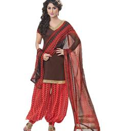 Buy Brown  chanderi salwar chanderi-salwar-kameez online
