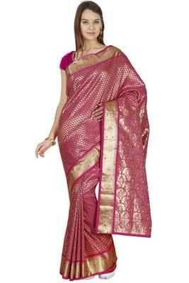f6ce1a0f7e116e Rani art silk kanchipuram art silk stone work brocade fancy saree with  blouse