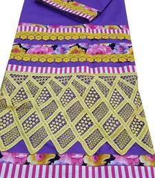 Buy Kromé indigo coloured with lace and border work semi stitched rida dress rida online