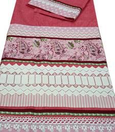 Buy Kromé gajari coloured with lace and border work semi stitched rida dress rida online