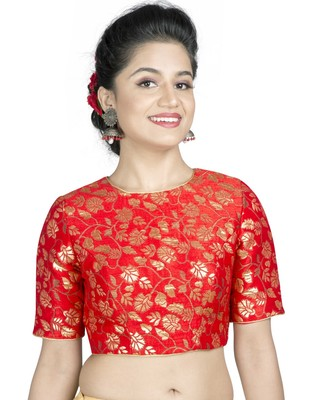 0413b05aac3 Red brocade floral stitched blouse - muhenera s - 2474032