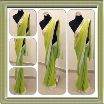 Lemon and green saree