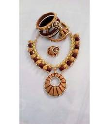 Buy Brown diamond necklace-sets necklace-set online