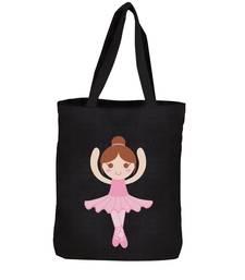 Buy Igypsy ecofriendly digital print black cotton canvas casual tote bags tote-bag online