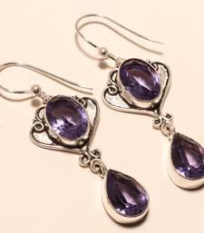 "Buy Iolite gemstone 925 silver jewelry earring 2.38"" gemstone-earring online"