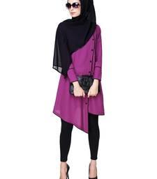 Buy Modest Forever Asymmetric  Button down Tunic abaya online