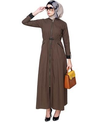 Modest Forever Drawstring Coat Abaya