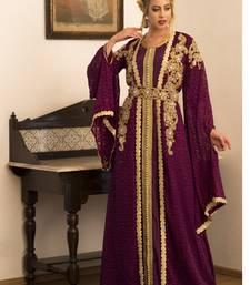 Violet Jacket Style Moroccan Wedding Caftan