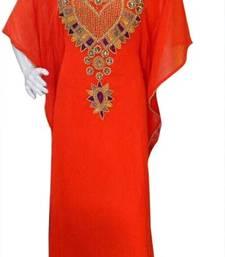 Buy Red Beads and Stone Work Georgette Hand Stiched Arab Islamic farasha farasha online