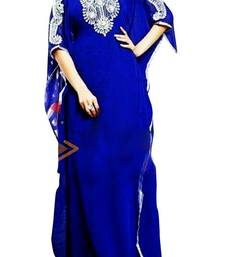 Buy Blue Beads and Stone Work Georgette Hand Stiched Arab Islamic farasha farasha online