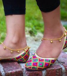 Ghungroo Jingle Golden Adjustable Anklet Pair