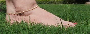 Pearl Stone Adjustable Anklet Set Pair