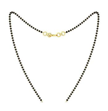 Simple Designer Black Agate Stone 1 Line Mangalsutra for Office or Casual Wear