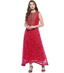 Pink printed chiffon kurtas-and-kurtis kurtas-and-kurtis
