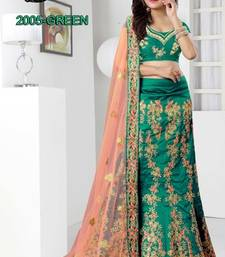 Buy green silk embroidered lehenga with dupatta lehenga-choli online