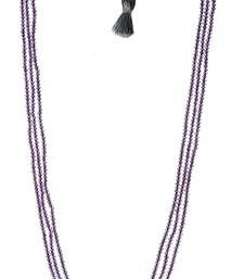 Buy Pink amethys gemstone faceted machine cut roundel beads necklace gsn35 Necklace online