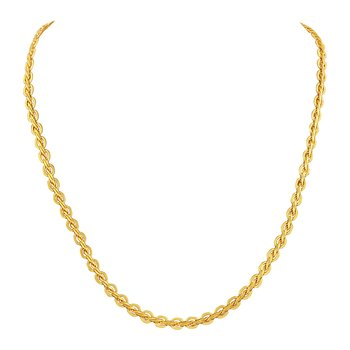 Elegant party wear gold plated chain for unisex