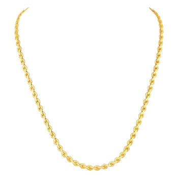 Brilliant party wear gold plated chain for unisex