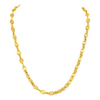 Appealing party wear gold plated chain for men