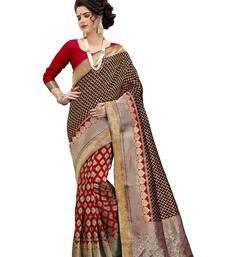 Buy Multicolor woven banarasi silk saree with blouse women-ethnic-wear online