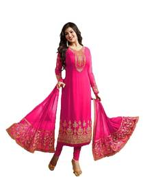 Buy Pink embroidered georgette salwar ayesha-takia-salwar-kameez online